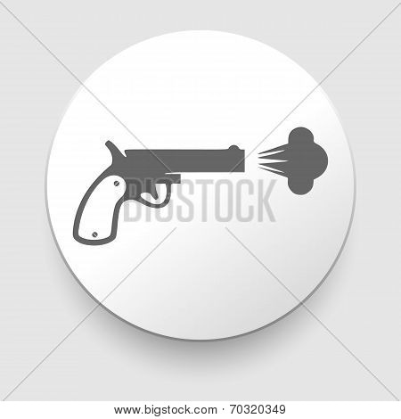 Revolver vector icon on white background.