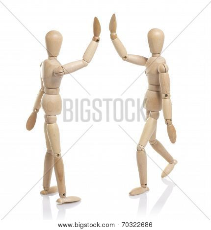Two Wooden Dummy Greet