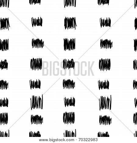 Vector seamless pattern. Black pencil doodle