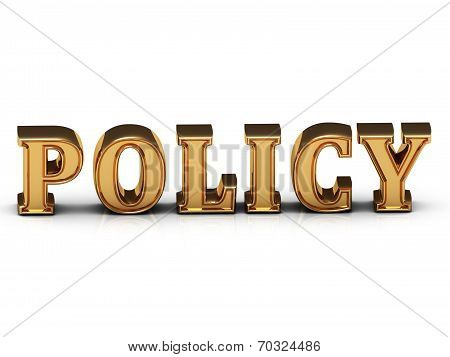 Policy Inscription Large Golden Letter