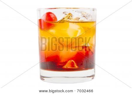 elegant delicious cocktail on a white background