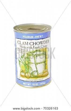 West Point - August 17, 2014: Can of Pilgrim Joe's Clam Chowder