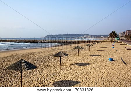 Early Morning At Beach In Durban South Africa