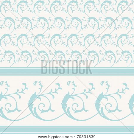 Vintage decorative scrollwork pattern