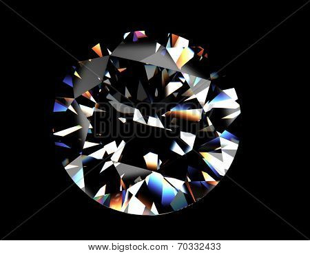 Round shape brilliant Diamond. Jewelry background