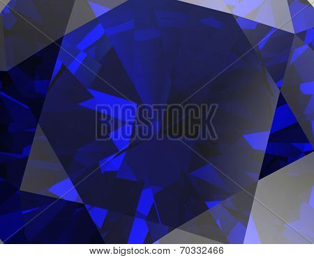 Background of jewelry gemstone. Facet. Sapphire