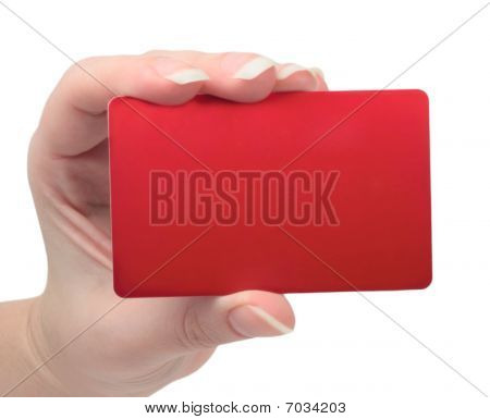 Template Business Cards In His Hand
