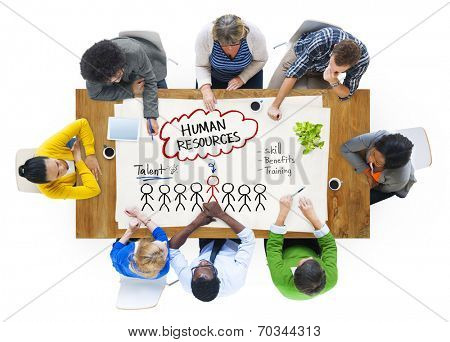 Group of People Discussing about Human Resources Concept