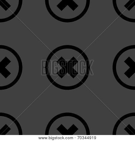 cancel  web icon. flat design. Seamless pattern.