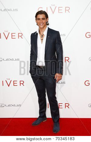 NEW YORK-AUG 11: Actor Brenton Thwaites attends the premiere of