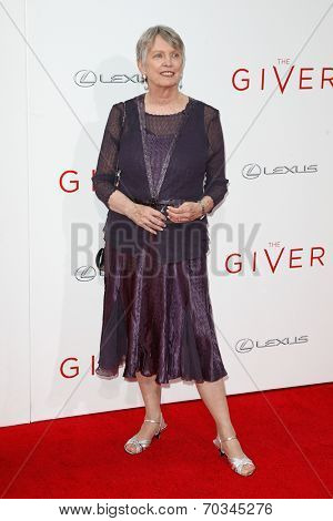 NEW YORK-AUG 11: Author Lois Lowry attends the premiere of