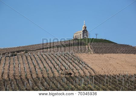 Chapel of the madona in Fleurie, Beaujolais