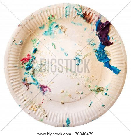 Dirty Disposable Plate