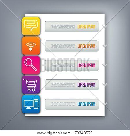 3D digital illustration Infographic