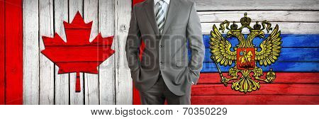 Concept of business between Russia and Canada