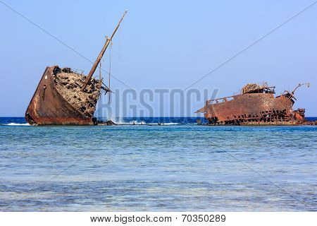 Maria Schröder Shipwreck.  Nabq, Egypt