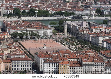 Place Bellecour in Lyon