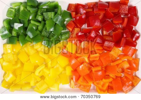 Diced Peppers