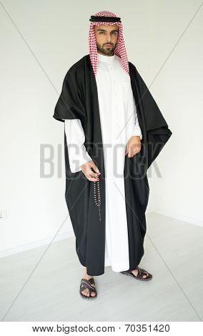 Arabic young sheikh posing