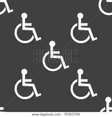disabled web icon. flat design. Seamless pattern.