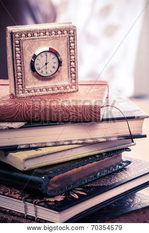 Clock And Journals