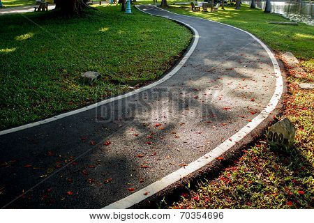 jogging Track In Health Park
