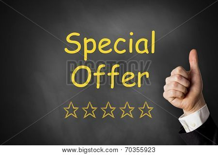 Thumbs Up Special Offer Chalkboard