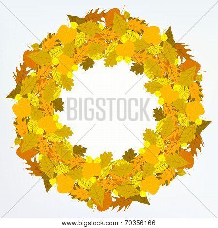 Vector background with autumn decor
