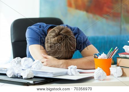 Student Sleeping On The Table