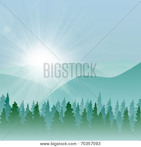 Forest Mountain Background