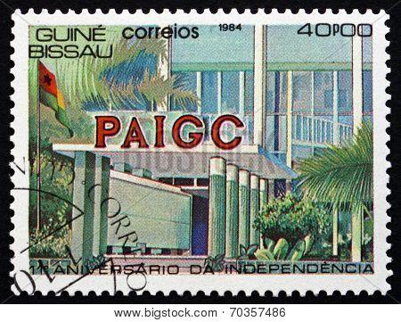 Postage Stamp Guinea-bissau 1984 Paigc Building