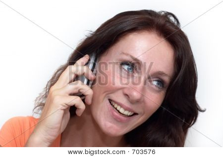 Woman Calling With Cel Lphone