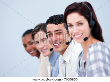 Confident Customer Service Representatives