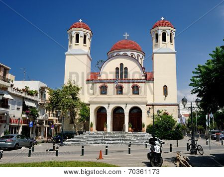 Rethymno, Greece - July 7: Church Of Four Martyrs On July 7, 2013 In City Of Rethymno, Crete, Greece