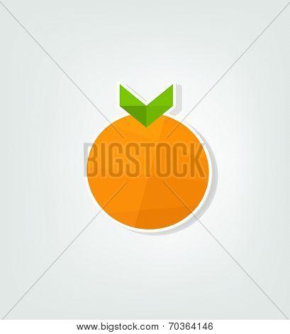 flat orange fruit