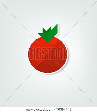 flat tomato sticker