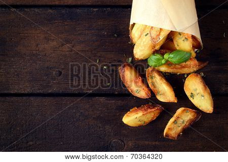 Baked Potatoes From Above