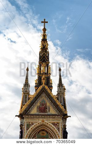 The Albert Memorial in Kensington Gardens, London, UK