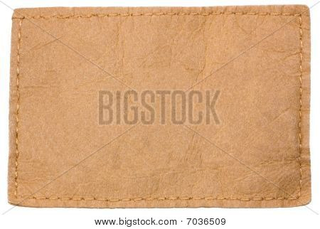 Light Blank Leather Label