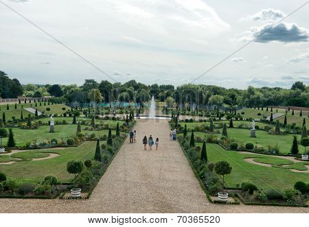 Privy Garden at Hampton Court Palace near London, UK