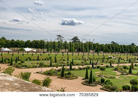 The Privy Garden at Hampton Court Palace near London