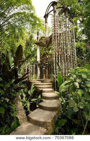 Concrete Structure In The Jungle