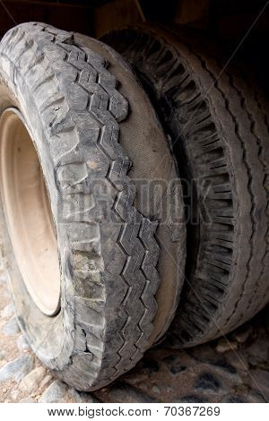 Extremely Worn Tires