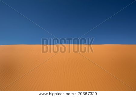Red Sand And Blue Sky