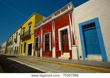 Street With Colorful Houses