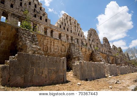Ancient Mayan Temple Ruins