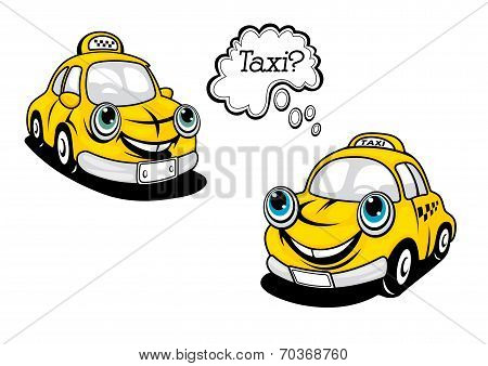 Cartoon taxi car
