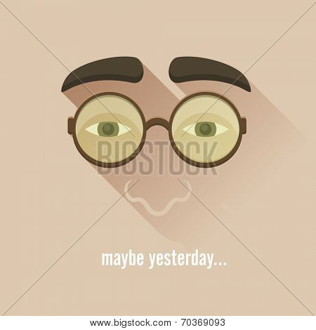 Nerd glasses. Vector Illustration