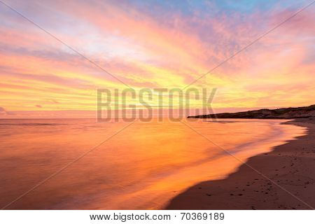 Beach At The Crack Of Dawn