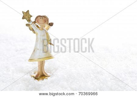 Christmas Angel - Isolated For A Christmas Card Or Religious Background